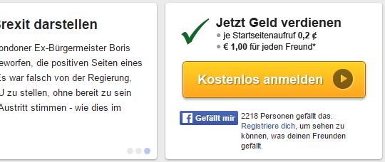 Регистрация на сайте Klamm.de